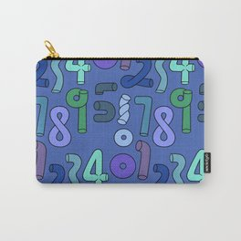 blue number Carry-All Pouch