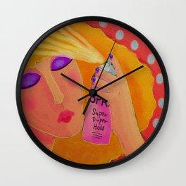 Hair Spray Abstract Digital Painting  Wall Clock