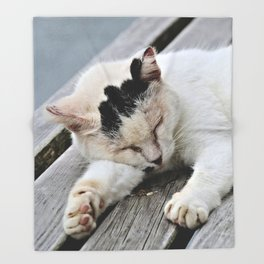 Cat Dreaming Throw Blanket