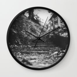 The stairway. Wall Clock