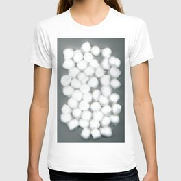 Cotton Balls Minimal Soft Fluffy Art T-shirt