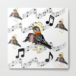 Accordion Bird Metal Print