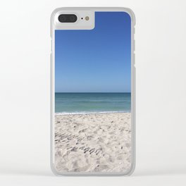 Yolo Beach Clear iPhone Case