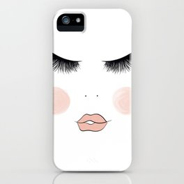 Lashes And Lips iPhone Case