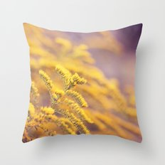 Golden Yellow and Lilac Throw Pillow