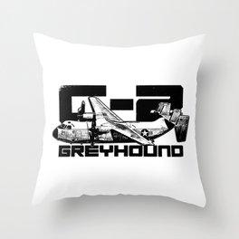 C-2 Greyhound Throw Pillow