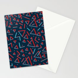 3D Pattern. Metal Feel Stationery Cards