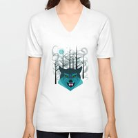 howl V-neck T-shirts featuring Howl by Kathryn Hudson Illustrations