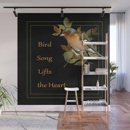 Bird song lifts the heart. chaffinch Wall Mural