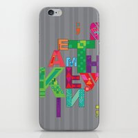 typo iPhone & iPod Skins featuring typo by nuage rouge