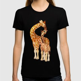 Mother and child giraffes T-shirt
