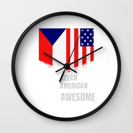 50% Czech 50% American 100% Awesome Wall Clock
