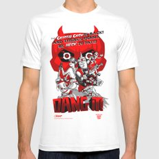 Dang it! Featuring the Cryptid Crew White MEDIUM Mens Fitted Tee