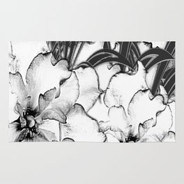Sketch of Orchids Rug