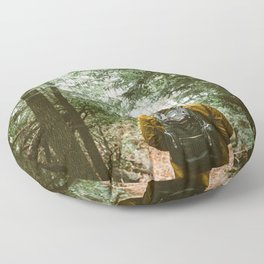 Forest Hiking Trail Adventure Floor Pillow