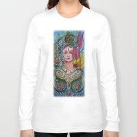 chakra Long Sleeve T-shirts featuring Chakra Mandla by Harsh Malik