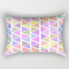 Triangles Colorful Pattern Rectangular Pillow