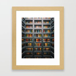 Rainbow Building Framed Art Print