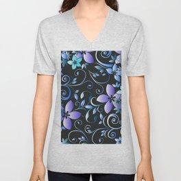 Flowers wall paper 7 Unisex V-Neck