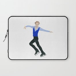 The boy in the blue vest. Figure skater. Laptop Sleeve