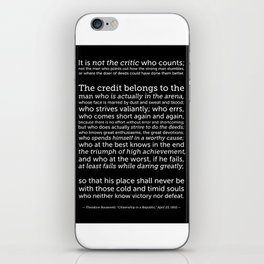 Daring Greatly Quote iPhone Skin