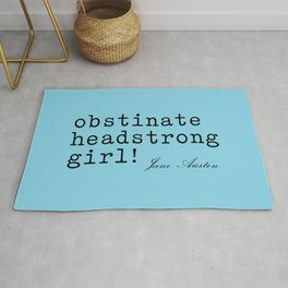 obstinate headstrong girl Rug
