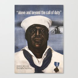 Dorie Miller - Above And Beyond The Call - WW2 Canvas Print