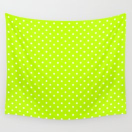 Dots (White/Lime) Wall Tapestry