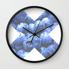 X Mora Azul Wall Clock