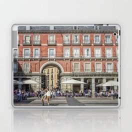 Relaxing cup in Plaza Mayor, Madrid Laptop & iPad Skin