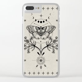 Magical Moth Clear iPhone Case