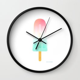 Pop, pop, pop my popsicle by Sarah van Ours / SarahvanOurs Wall Clock