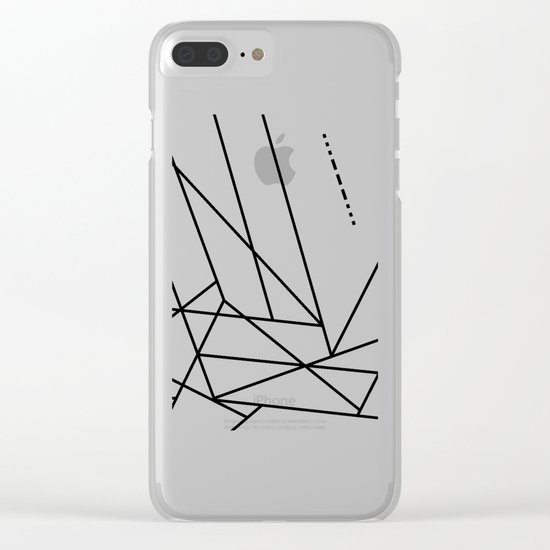 Intergalactic SOS Clear iPhone Case