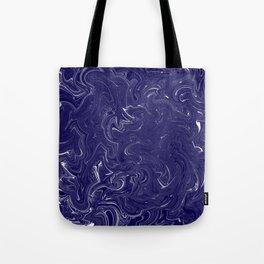 Blue and White Hurricane Tote Bag