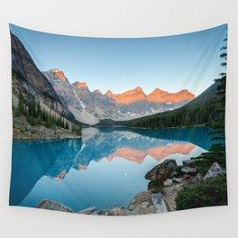 MORAINE LAKE SUNRISE - BANFF NATIONAL PARK CANADA - LANDSCAPE NATURE PHOTOGRAPHY Wall Tapestry