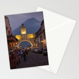 Santa Catalina Arch at Night Stationery Cards