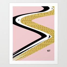 Abstract Blush II #kirovair #design #minimal #society6 #buyart Art Print