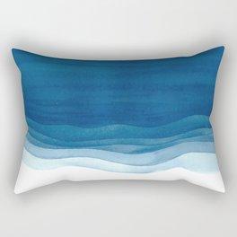 Watercolor blue waves Rectangular Pillow