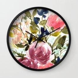 Soft Fall Bouquet 2 Wall Clock