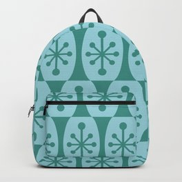 Mid Century Modern Atomic Fusion Pattern 335 Green and Blue Backpack