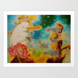 Canute the Goldfish Art Print