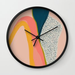Colorful Abstract Textures Wall Clock