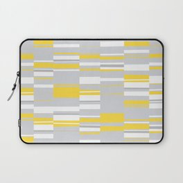 Mosaic Rectangles in Yellow Gray White #design #society6 #artprints Laptop Sleeve