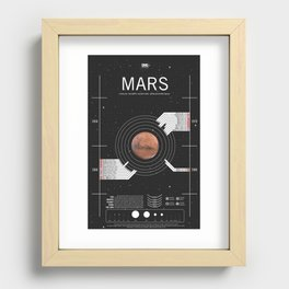 OMG SPACE: Mars 1960 - 1980 Recessed Framed Print