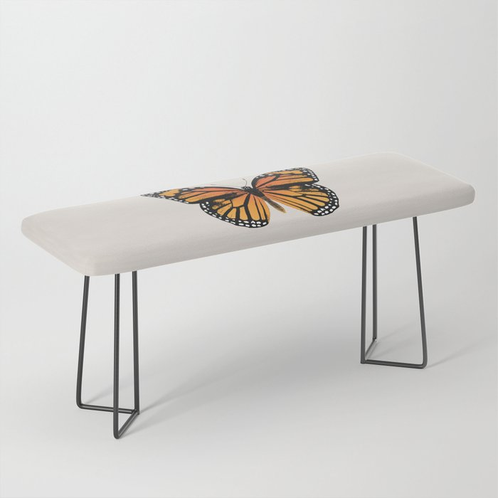 Monarch Butterfly | Vintage Butterfly | Bench