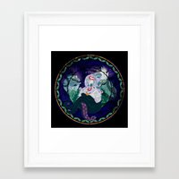 ursula Framed Art Prints featuring Ursula by Mazuki Arts