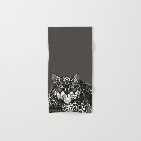 snow leopard lead Hand & Bath Towel