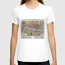 Vintage Map of London England (1598) T-shirt