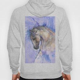 Horse on purple background Hoody