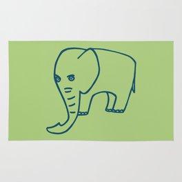Elephant olive blue Rug